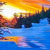 tramonto a Siusi